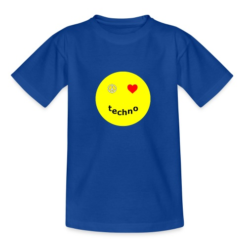 camiseta paz amor techno - Camiseta adolescente