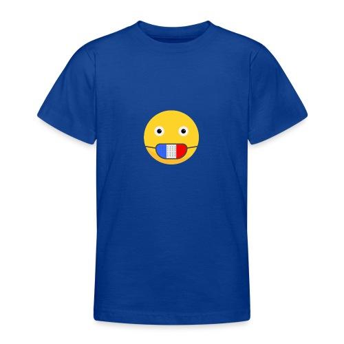 DESIGN EMOJI MASQUE COVID CORONA FRANCE - T-shirt Ado