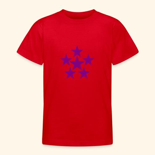 5 STAR lilla - Teenager T-Shirt