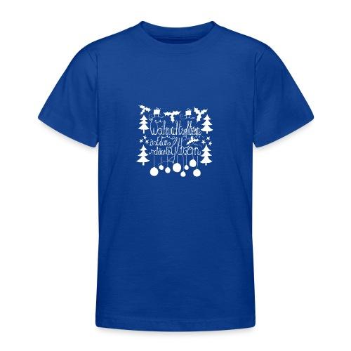 Weihnachtsglitzern - Teenager T-Shirt