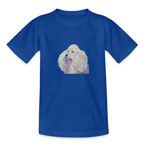 poodle standard white - Teenager-T-shirt
