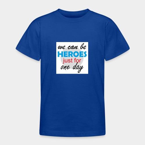 GHB Jeder kann für 1 Tag ein Held sein 190320181W - Teenager T-Shirt