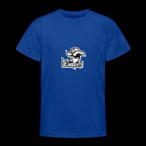 Delinquents Hvidt Design - Teenager-T-shirt