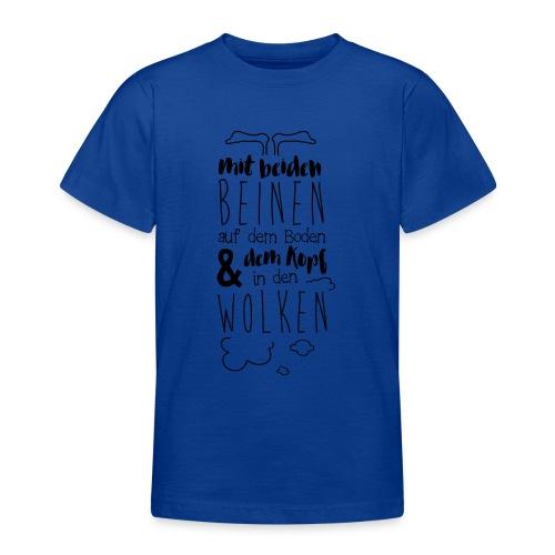 Kopf in den Wolken - Teenager T-Shirt