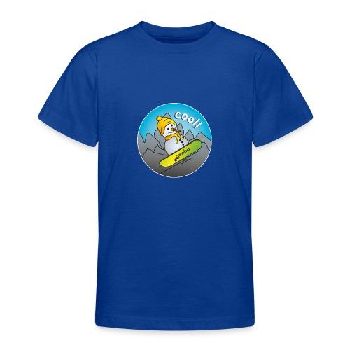 Schneemann auf Snowboard - Teenager T-Shirt