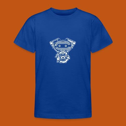 Motorrad Motor / Engine 02_weiß - Teenager T-Shirt