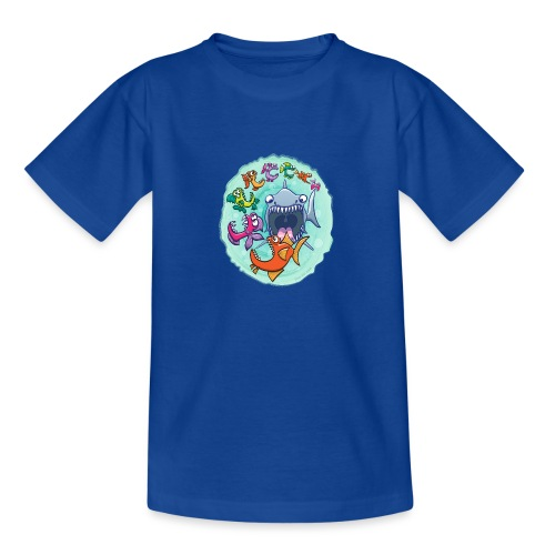 Big fish eat little fish and vice versa - Teenage T-Shirt