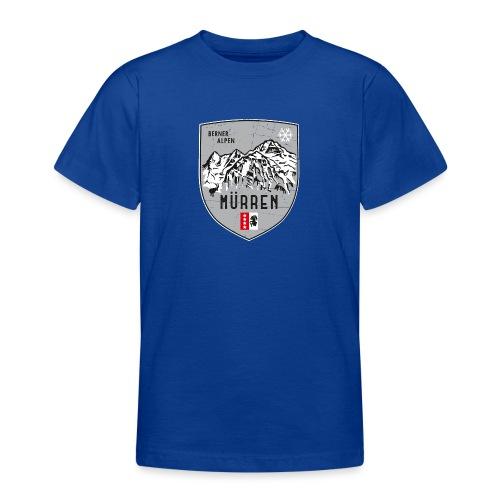 Eiger, Mönch und Jungfrau mit Mürren Flagge - Teenage T-Shirt
