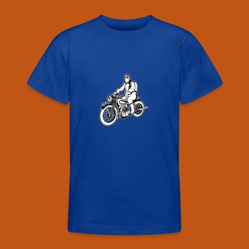 Chopper / Motorrad 04_schwarz weiß - Teenager T-Shirt