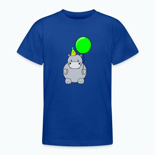 Henri Hippo Party - Appelsin - T-shirt tonåring