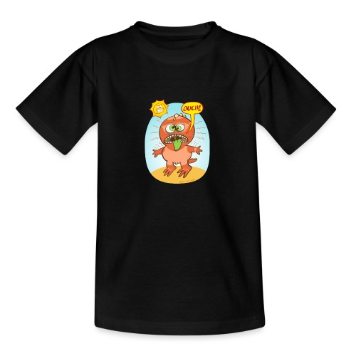 Bad summer sunburn for a funny dinosaur - Teenage T-Shirt