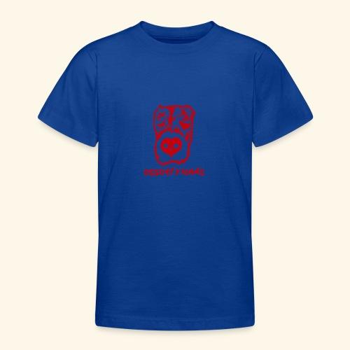 Logo ROSSO TRASPARENTE creative - Maglietta per ragazzi