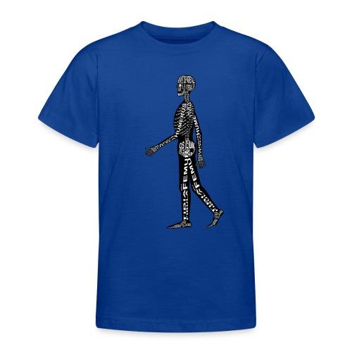Menschen-Skelett - Teenage T-Shirt