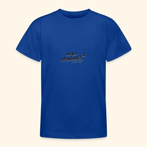 noloabandones negro - Camiseta adolescente