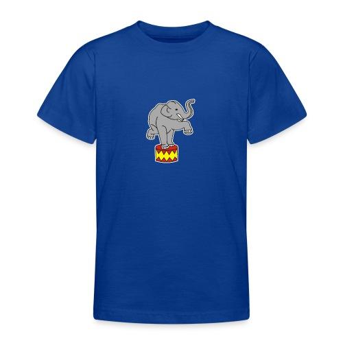 Zoo Zirkus Elefanten Circus Elephants Retro Comic - Teenager T-Shirt