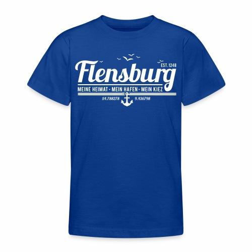 Flensburg - meine Heimat, mein Hafen, mein Kiez - Teenager T-Shirt