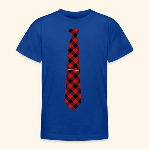 Krawatte 126 mit Goldnadel - Teenager T-Shirt