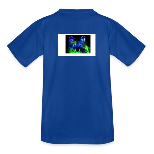 green and blue wolf - Teenage T-Shirt
