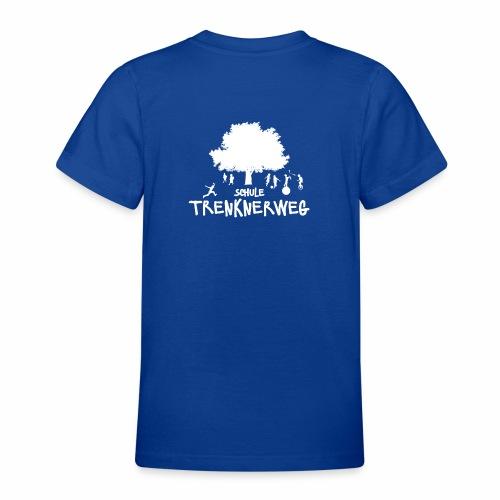 Weißes Logo: nur für grüne Textilien! - Teenager T-Shirt