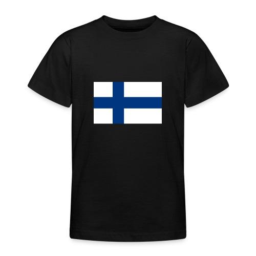 800pxflag of finlandsvg - Nuorten t-paita
