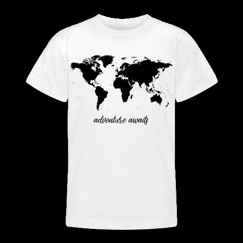 adventure awaits - Weltkarte - Teenager T-Shirt