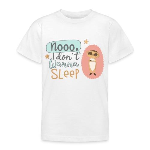 Kleines freches Erdmännchen will nicht schlafen - Teenager T-Shirt