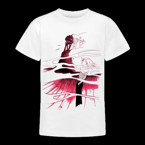 Ein Ort (rot) - Teenager T-Shirt