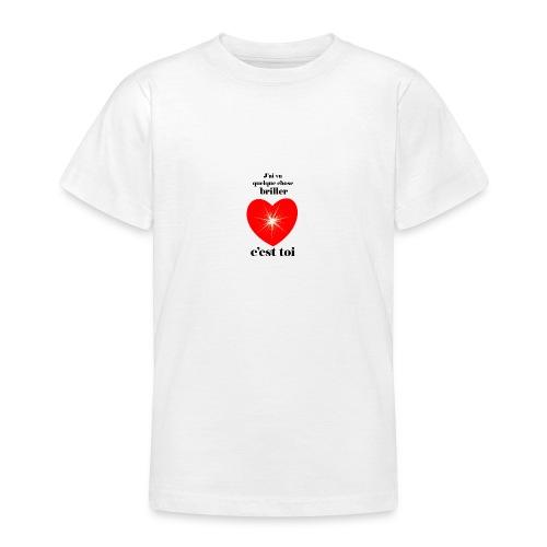 Coeur brillant ...amoureux ou inspiré FC - T-shirt Ado