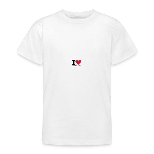 I Love Swedish Girls Vit T-SHIRT - T-shirt tonåring