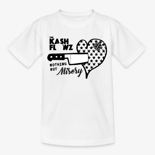Nothing But Misery Knife Heart Black - T-shirt Ado