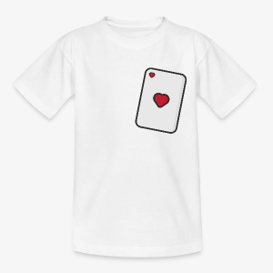 Hearts, Playing card - Teenage T-shirt