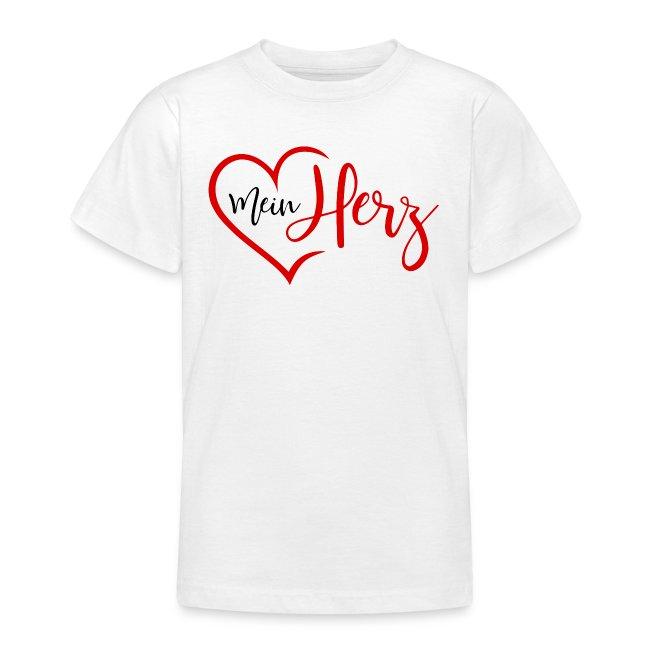 Simsalapimp Mein Herz Mit Herz In Rot Teenager T Shirt