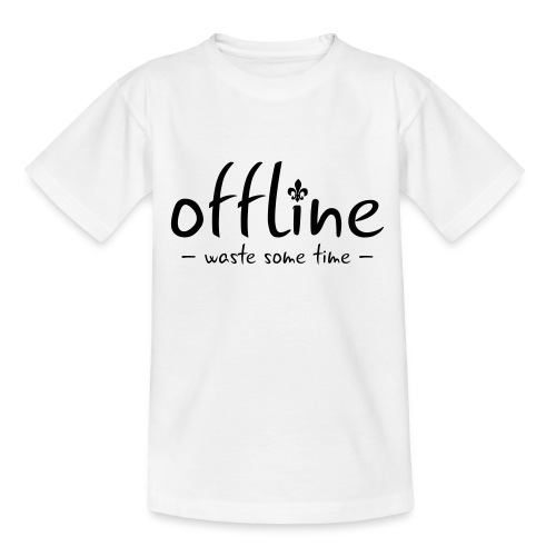 Waste some time offline – Lilie – Farbe wählbar - Teenager T-Shirt