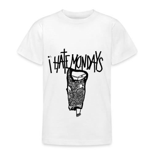 Lundi, je déteste les lundis, je hais les lundis - T-shirt Ado
