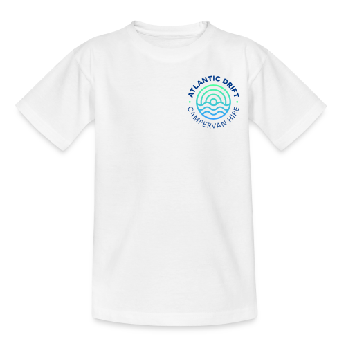 Atlantic Drift Logo (Blue) - Teenage T-Shirt