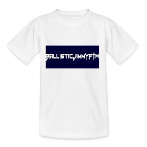 BallisticJimmyFTW Labelled Rectange White - Teenage T-shirt