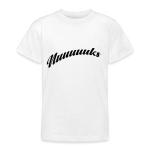 nuuuuks logo - Teenager T-shirt