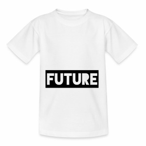Future Clothing - Text Rectangle (Black) - Teenage T-shirt