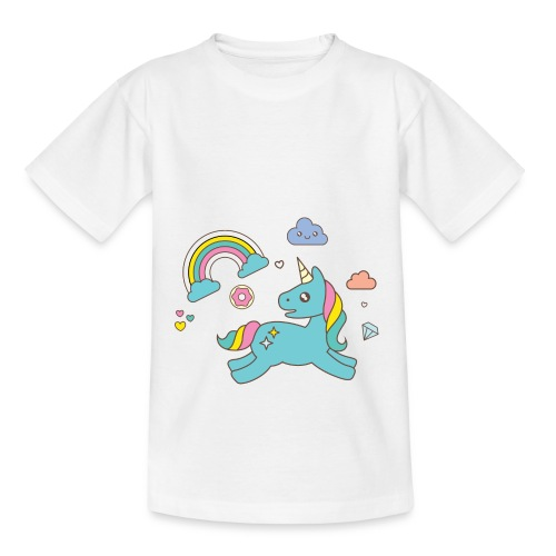 colored unicorn - Teenage T-shirt