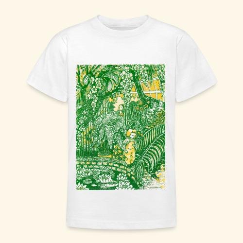 Children in a green garden - Nuorten t-paita