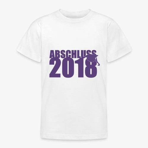 Abschluss 2018 purple - Teenager T-Shirt