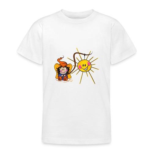 Sonne geangelt - Teenager T-Shirt