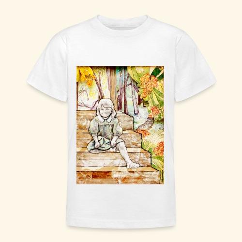 Girl on stairs - Nuorten t-paita