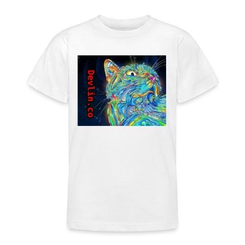 Trippy cat - Teenage T-shirt