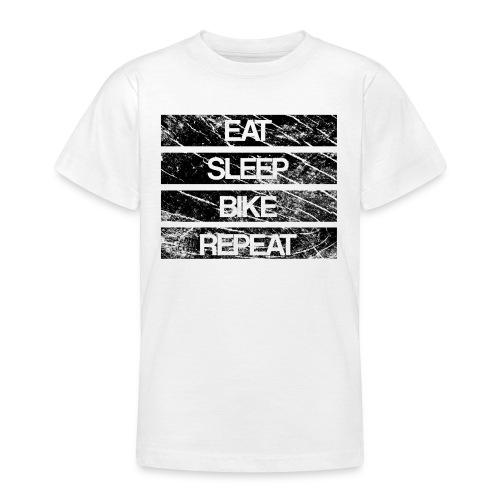 eat sleep bike repeat Used look - Teenager T-Shirt