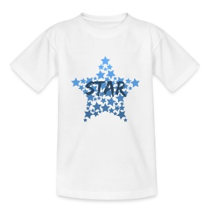 Blue star - Teenage T-shirt