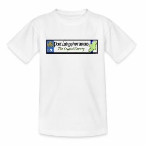 WATERFORD, IRELAND: licence plate tag style decal - Teenage T-shirt