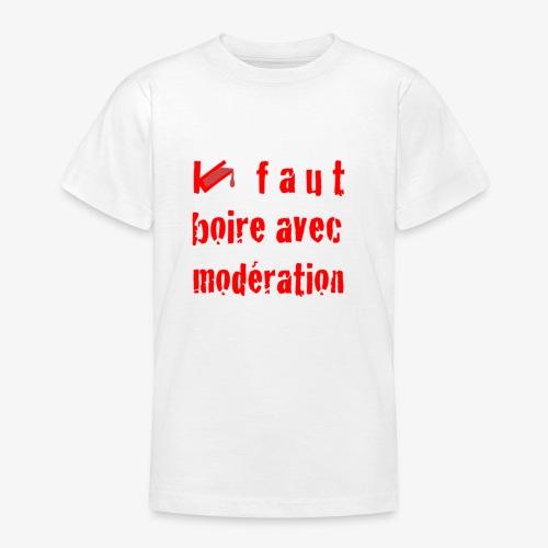 test t shirt FACE ROUGE - T-shirt Ado