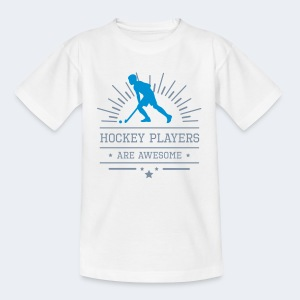 Hockeyplayers are Awesome , blue - Teenager T-Shirt