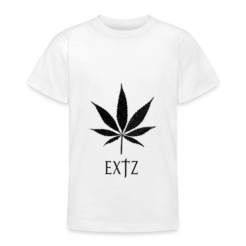 Vetement Marque EXTZ Feuille De Canabis Noir. - T-shirt Ado
